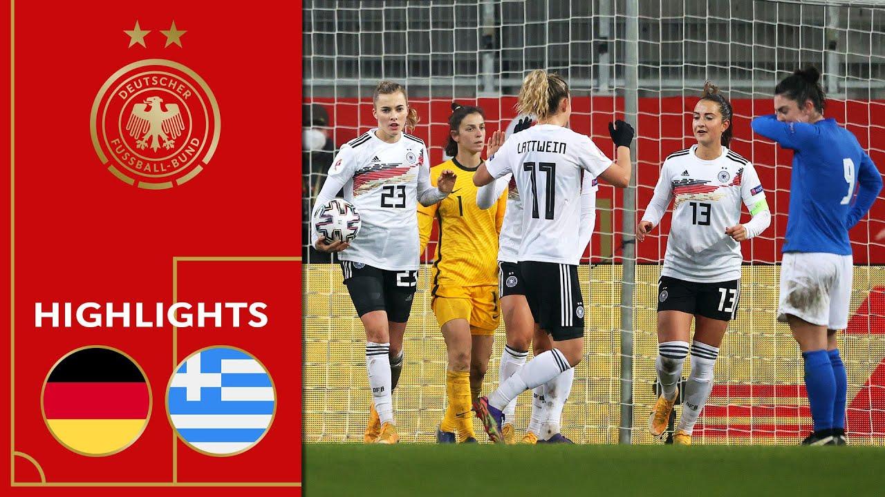 Freigang erzielt Hattrick! Deutschland - Griechenland 6:0 | Highlights | Frauen EM-Qualifikation