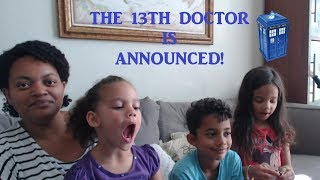 Family Reaction to the 13th Doctor Announcement!
