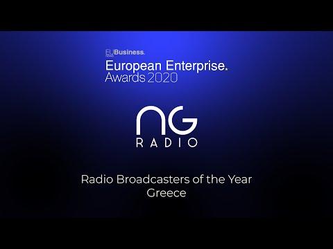NGradio νικητής στα European Enterprise Awards 2020 | Radio Broadcasters Of The Year