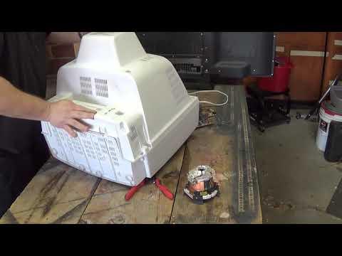 Scrapping an old CRT Tube TV for Copper, aluminum and precious metals REBOOT! - Moose Scrapper #285