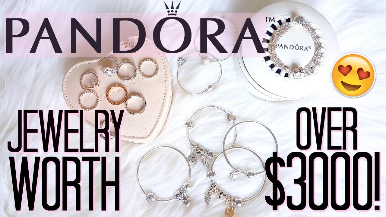 Huge Pandora Haul Jewelry Collection Worth 3000 Youtube
