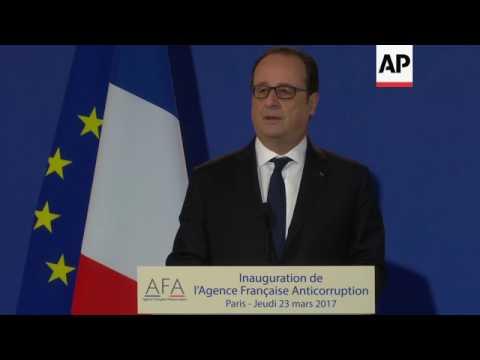 President Hollande opens anti-corruption agency