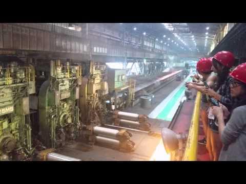 Steel elongation machine in Shanghai Baoshan Steelwork