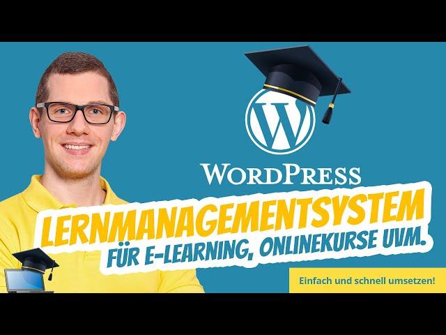WordPress Online Lernplattform Lernmanagementsystem & Wissensmanagement 🎓  eLearning Online-Kurse