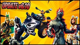 ⚡NEW FORTNITE UPDATE (v6.10) *QUADTACLISMO* +NEW SKINS⚡