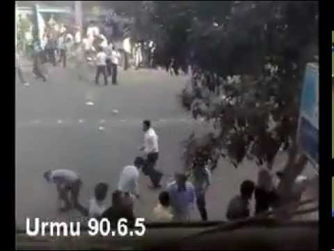 Iran Urmia 27 Aug. 2011 - Clash between people and security forces