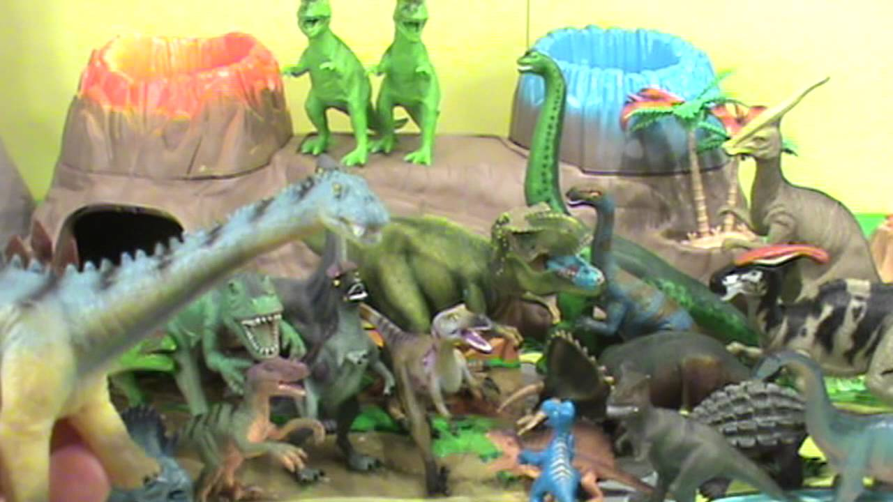 Walmart Dinosaur Toys : Dinosaur toy collection video for kids over dinosaurs