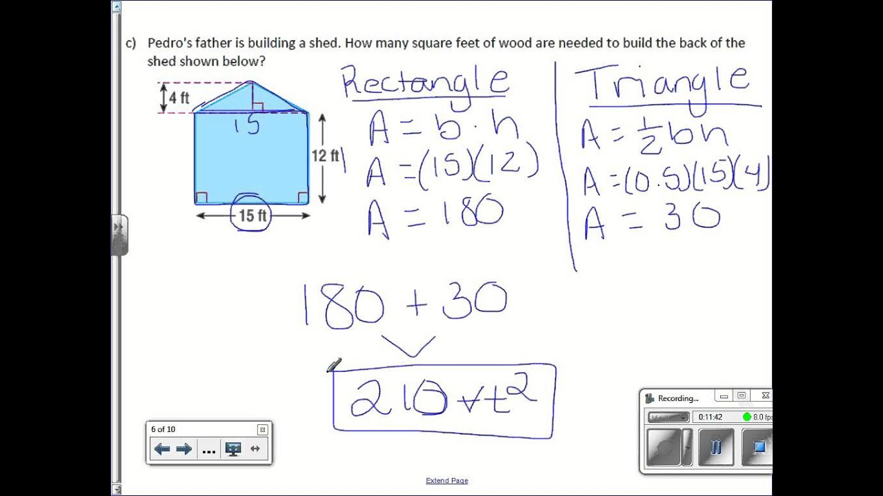 hight resolution of 7th Grade 8-3: Area of Composite Figures - YouTube