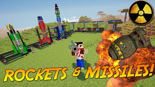 MISSILES, ROCKETS AND HIGH TECH EXPLOSIVES! | Minecraft Mod Showcase!
