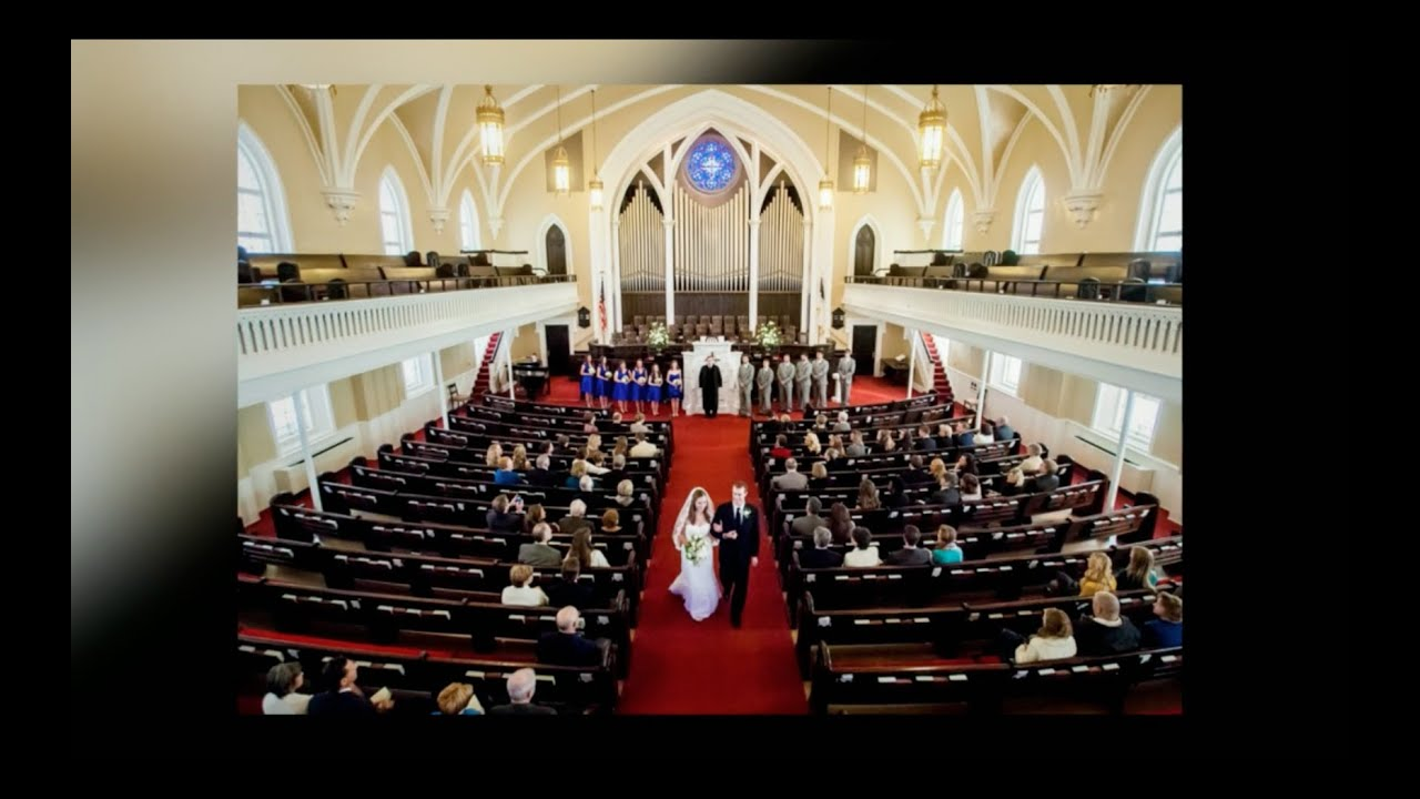 A Wedding Reception At First Presbyterian Church In Columbia Sc