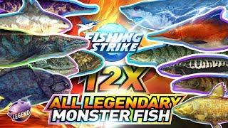 【釣魚大亨 Fishing Strike】 All Legendary Monster fish 传说中的怪物鱼
