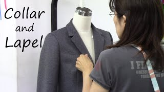 衿ラペルの作り方・付け方 ジャケット How to sew and attach a collar and lapel Jacket tutorial