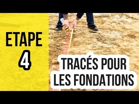 Tracer au sol pour creuser les fondations - Etape 4