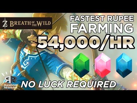 Zelda: Breath of the Wild -  FASTEST RUPEE FARMING (54,000/HR - NO LUCK)
