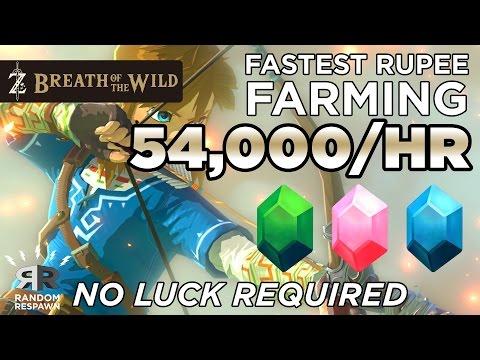 Zelda: Breath Of The Wild -  FASTEST RUPEE FARMING (54,000/HR - NO LUCK)