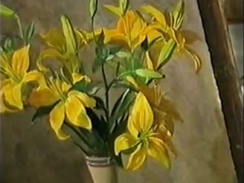 рисуем цветы акварелью видеоурок