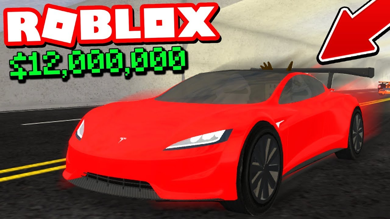 I Bought A 12 000 Tesla Roadster Roblox Vehicle Simulator