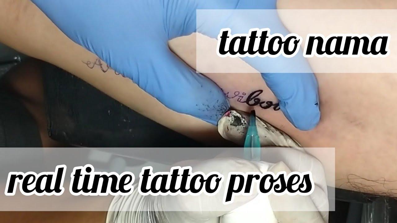 tato nama || letter tattoo || realtime tattoo || tato indonesia