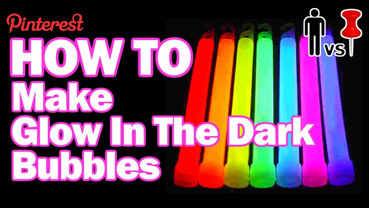 How To Make Glow in the Dark Bubbles Man Vs Pin 29