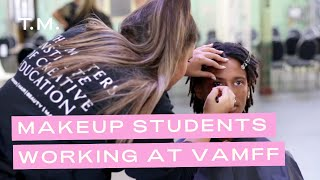 Makeup Students Working at VAMFF 2020