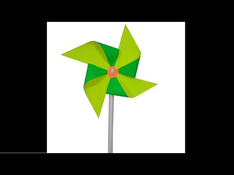 How to Make a Paper Pinwheel that Spins - DIY art and craft - Easy Fun craft for kids