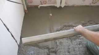 Стяжка с керамзитом на кухне ч.7(В ролике показано как начать финишную стяжку,как распланировать работу,чтобы за один раз стянуть три плоск..., 2014-03-08T12:24:17.000Z)