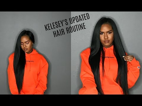 Kelsey's Updated Hair Routine | How I Straighten My Curly Hair | Tips, Tricks, & Tools
