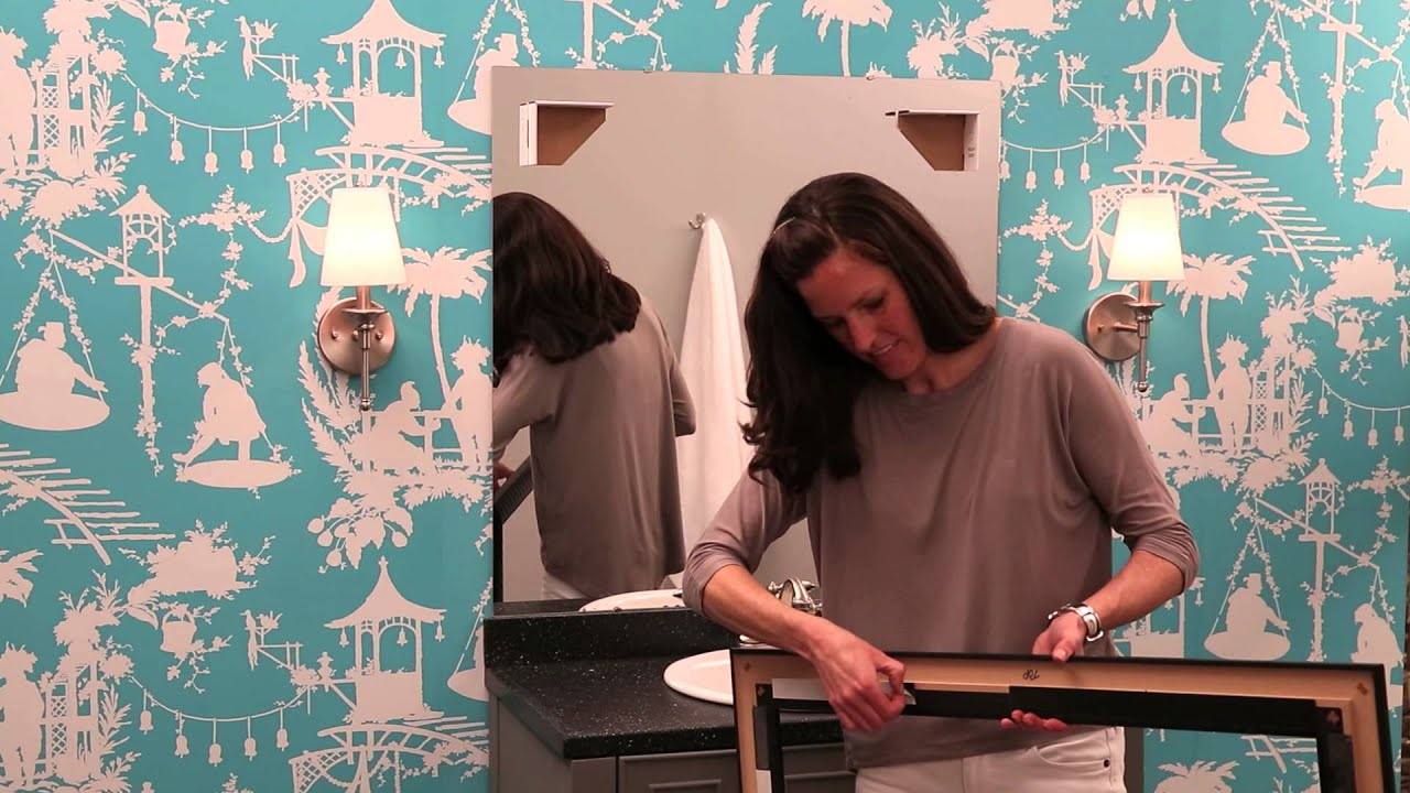 See How To Frame A Bathroom Mirror