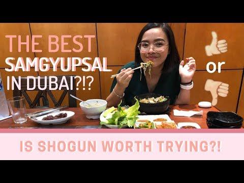WHERE TO EAT IN DUBAI: SHOGUN (KOREAN, JAPANESE, THAI RESTAURANT)