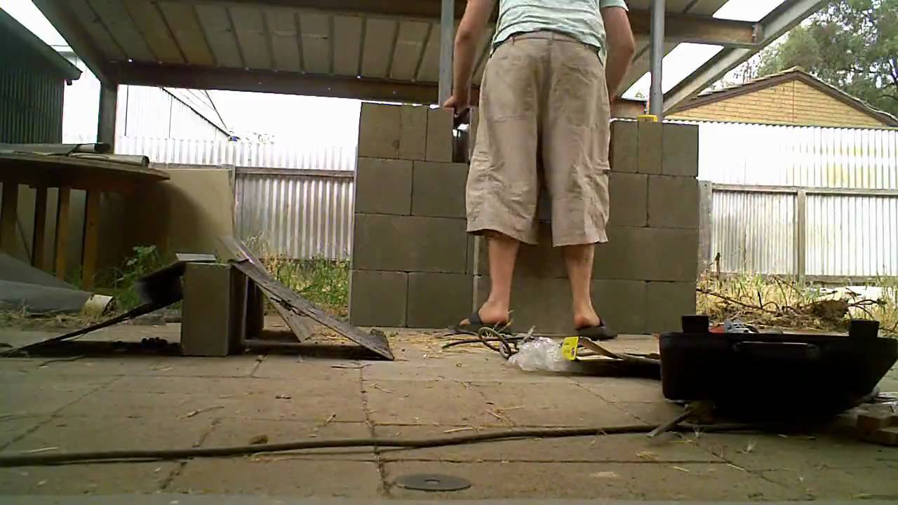 Building An Outdoor Kitchen With Concrete Blocks