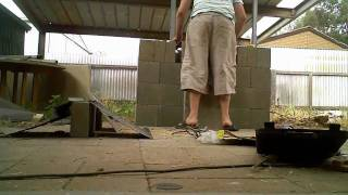 Building My New Bbq Out Of Concrete / Bessa Blocks.