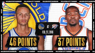 February 27, 2016: Golden State Warriors @ Oklahoma City Thunder #NBATogetherLive