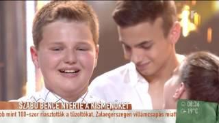 Szívszorító: Szebenit megríkatta a Legmenőbb Kismenő - tv2.hu/mokka