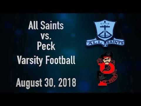 BCTV Sports - All Saints vs. Peck Varsity Football (August 30, 2018)