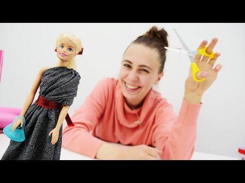 Готовимся к ВЕЧЕРИНКЕ🎉: Шьем платье для Барби своими руками 🙌. Мастерская #Барби на канале Хэндики