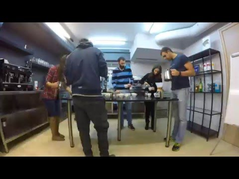 latte art seminar, Bar Academy Athens