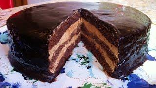 """Торт Прага / Chocolate Cake """"Prague"""" / Шоколадный Торт / Пошаговый Рецепт (Очень Вкусно)"""