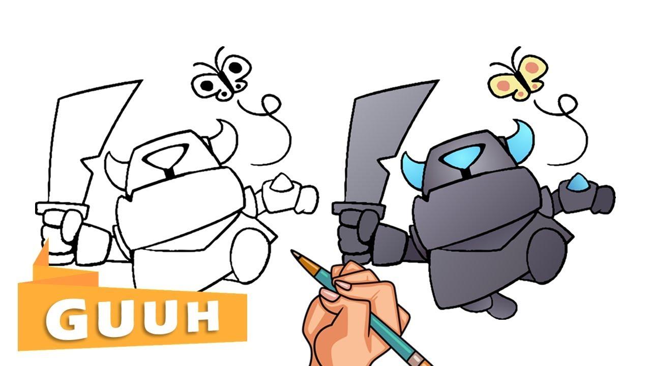 Comment Dessiner Le Mini Pekka De Clash Royale