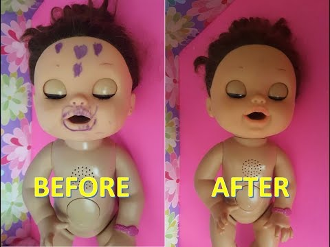 How to get Ink marks off of your doll REALLY WORKS