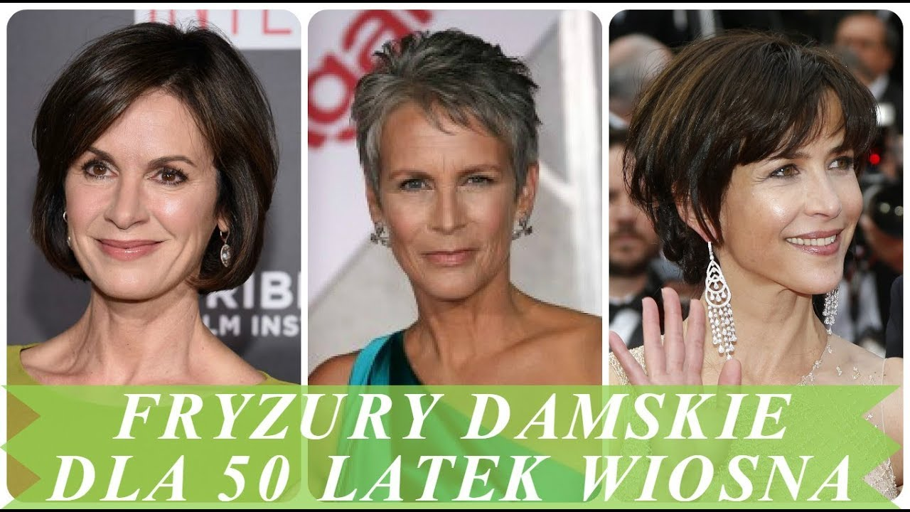 Modne Fryzury Damskie Dla 50 Latek Wiosna 2018