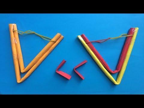 How to make a paper slingshot  | Origami Easy and Super Slingshot