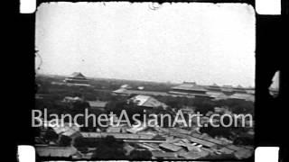 1920's film of China: Panorama of Peking (Beijing) from City Wall