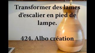 Pied de lampe en bois de Hêtre. 424