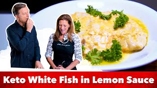 Keto White Fish in Lemon Sauce Recipe