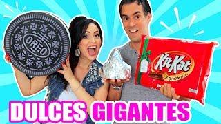 CHOCOLATE vs GOMITAS GIGANTES! Dulces Día del AMOR ♥ SandraCiresArt