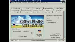 Great Plains Accounting DOS and Windows Short Demo