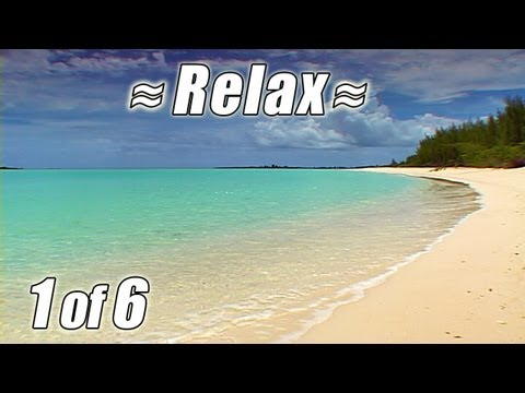 BAHAMAS BEACHES #1 Relaxing Tropical Beach Ocean Waves Sounds for Relax Studying Tropic Nature