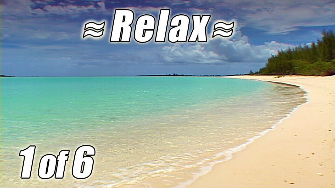 Très BAHAMAS BEACHES #1 Relaxing Tropical Beach Ocean Waves Sounds for  RE88