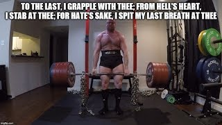 Deadlift 485, 575 & 595 (Grindy) + 54 lbs Chains  - Road to 650 2020
