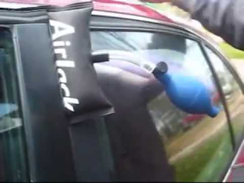 how to open a locked car with car opening tools. -